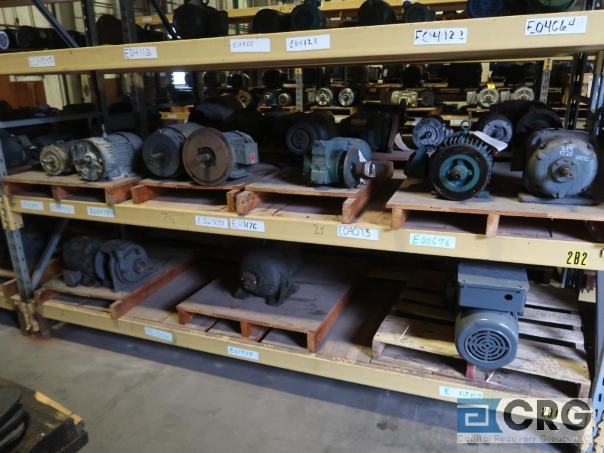 Lot of (38) assorted 5 HP and smaller motors on (6) shelves (Motor Building) - Image 2 of 3