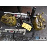 Lot of (6) miscellaneous items including (2) Enerpac hydraulic hand pumps, (2) hydraulic hand pumps,