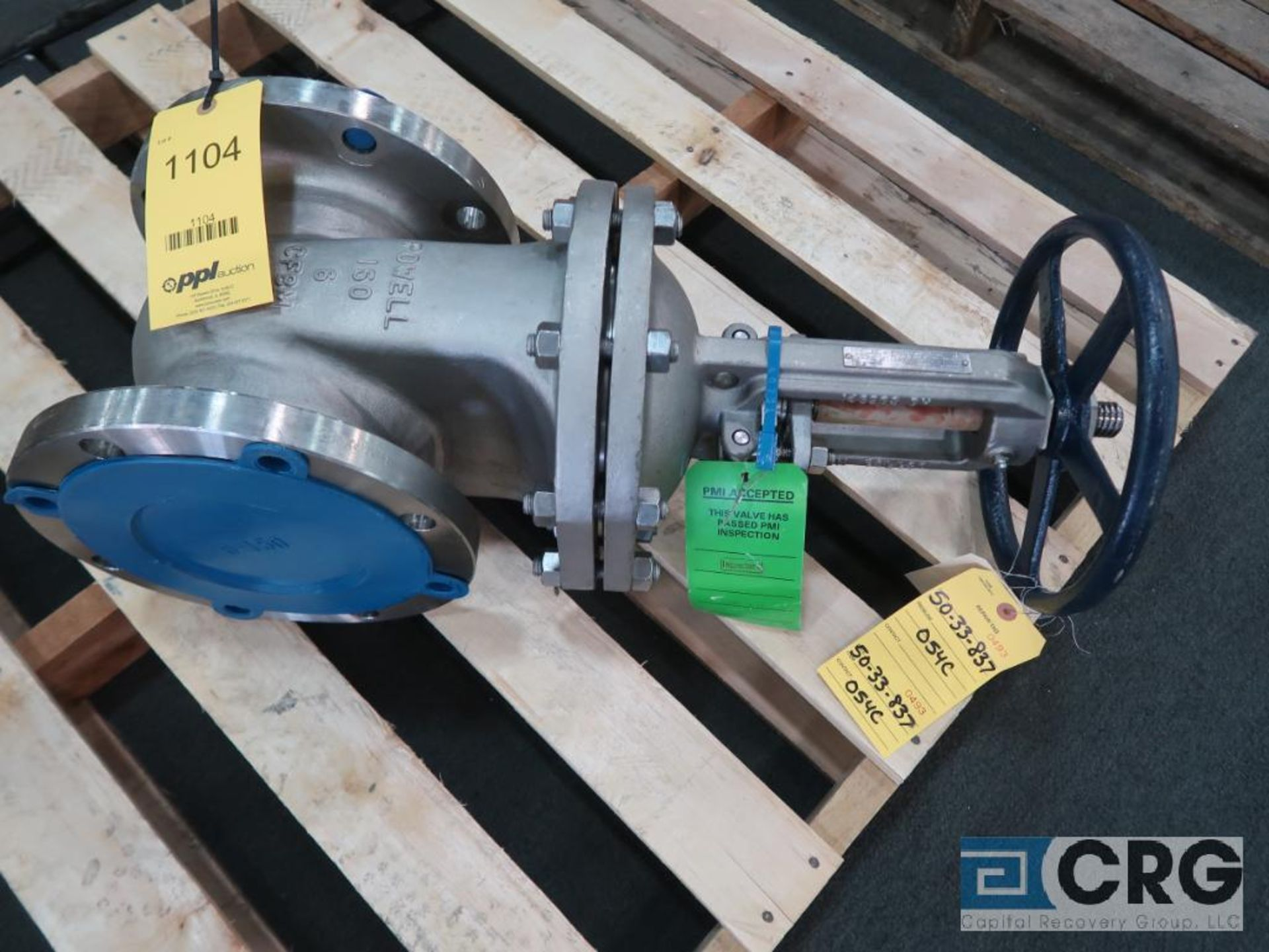 Powell stainless 7 in. ball valve (Finish Building)