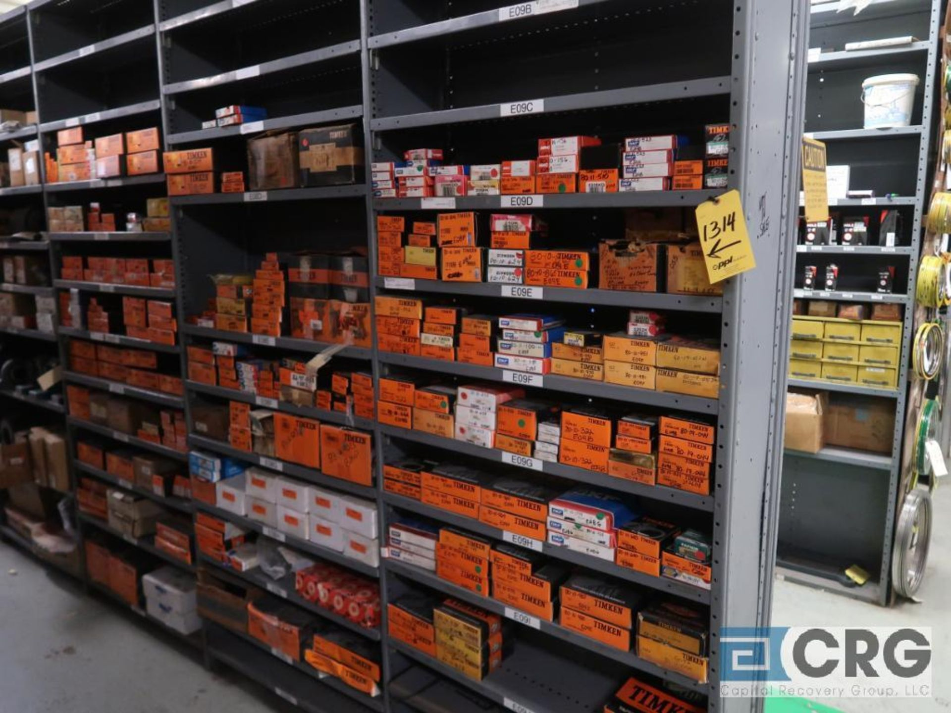 Lot of assorted bearings on (18) sections of metal shelving (located in Basement Store) - Image 9 of 17