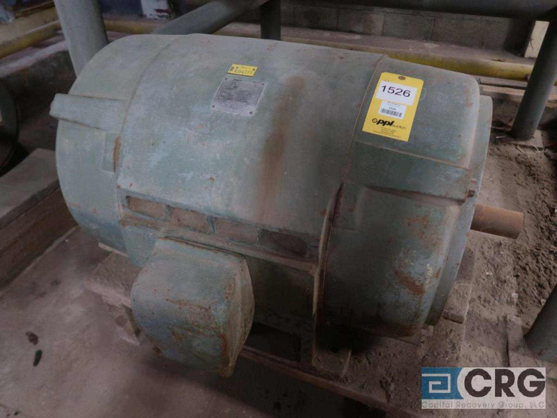Westinghouse motor, 200 HP, 1,770 RPM, 2,300 volts, frame 506US, equipment #E04777 (496 Dock Area)