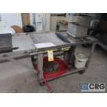 """Water Mark Press with 30"""" x 72"""" cart (Dandy Room)"""