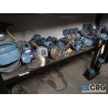 Lot of assorted Foxboro and Rosemont assorted sensors-on (1) shelf of rack (Inside Shop-496 Dock