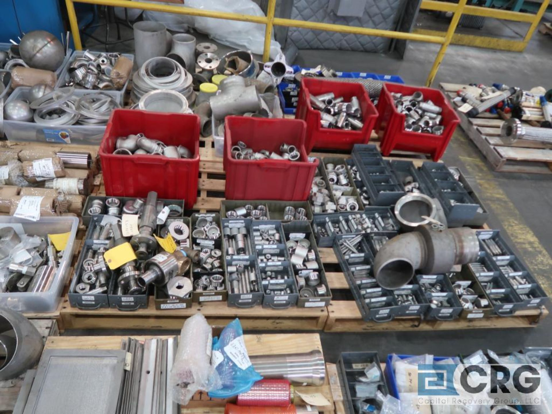 Lot of (14) pallets of stainless fittings, clamsps, couplers, and flanges (Finish Building) - Image 4 of 5