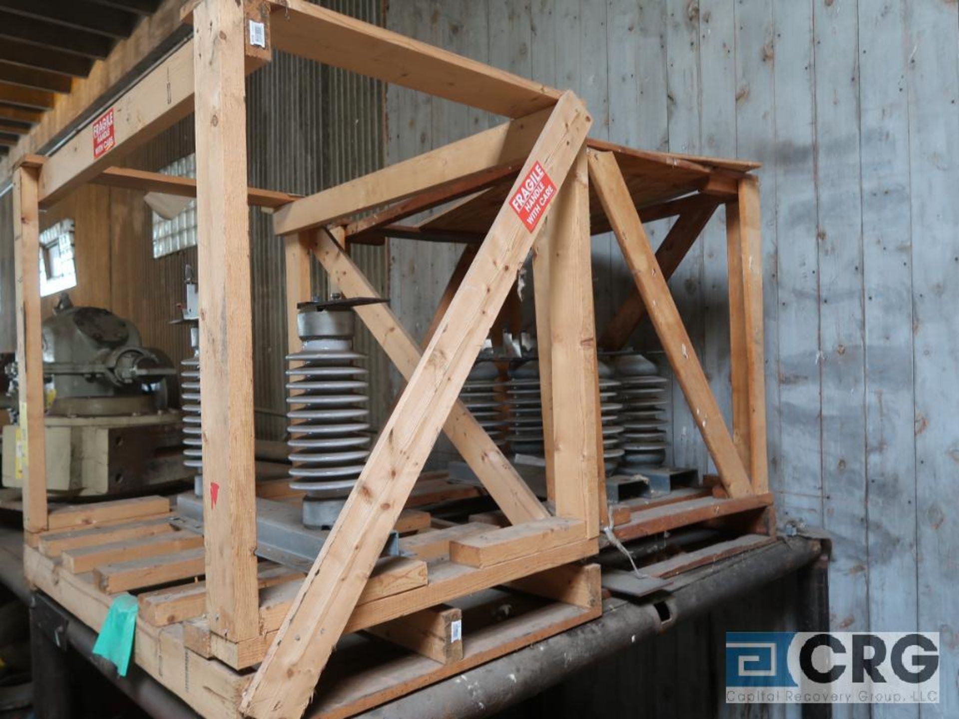 Lot of assorted motor, gear bearing housing, gear drive on metal rack (Next Bay Cage Area) - Image 2 of 16