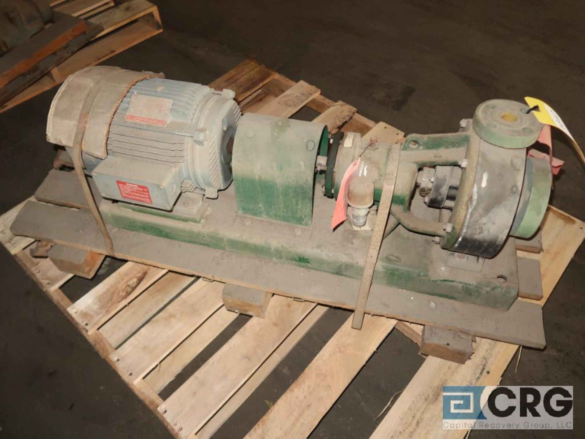 Fybroc 1160-10 2 x 1 centrifugal pump with 5 HP motor, s/n 262887 (Off Site Warehouse)