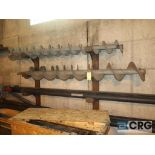 Lot of (9) augers (Next Bay Cage Area)
