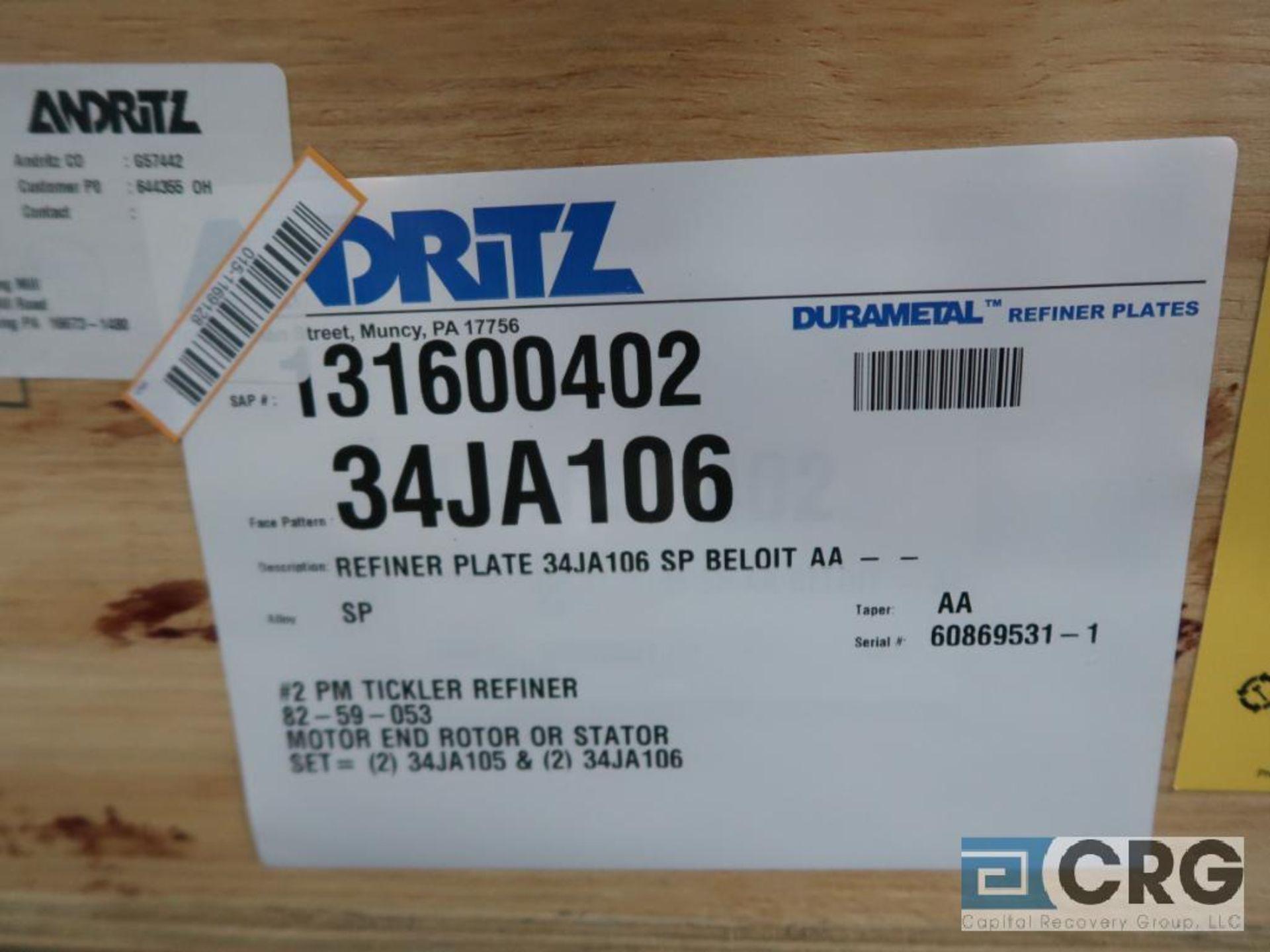 Lot of (4) Andritz 34JA106 refiner plates (Finish Building) - Image 2 of 2