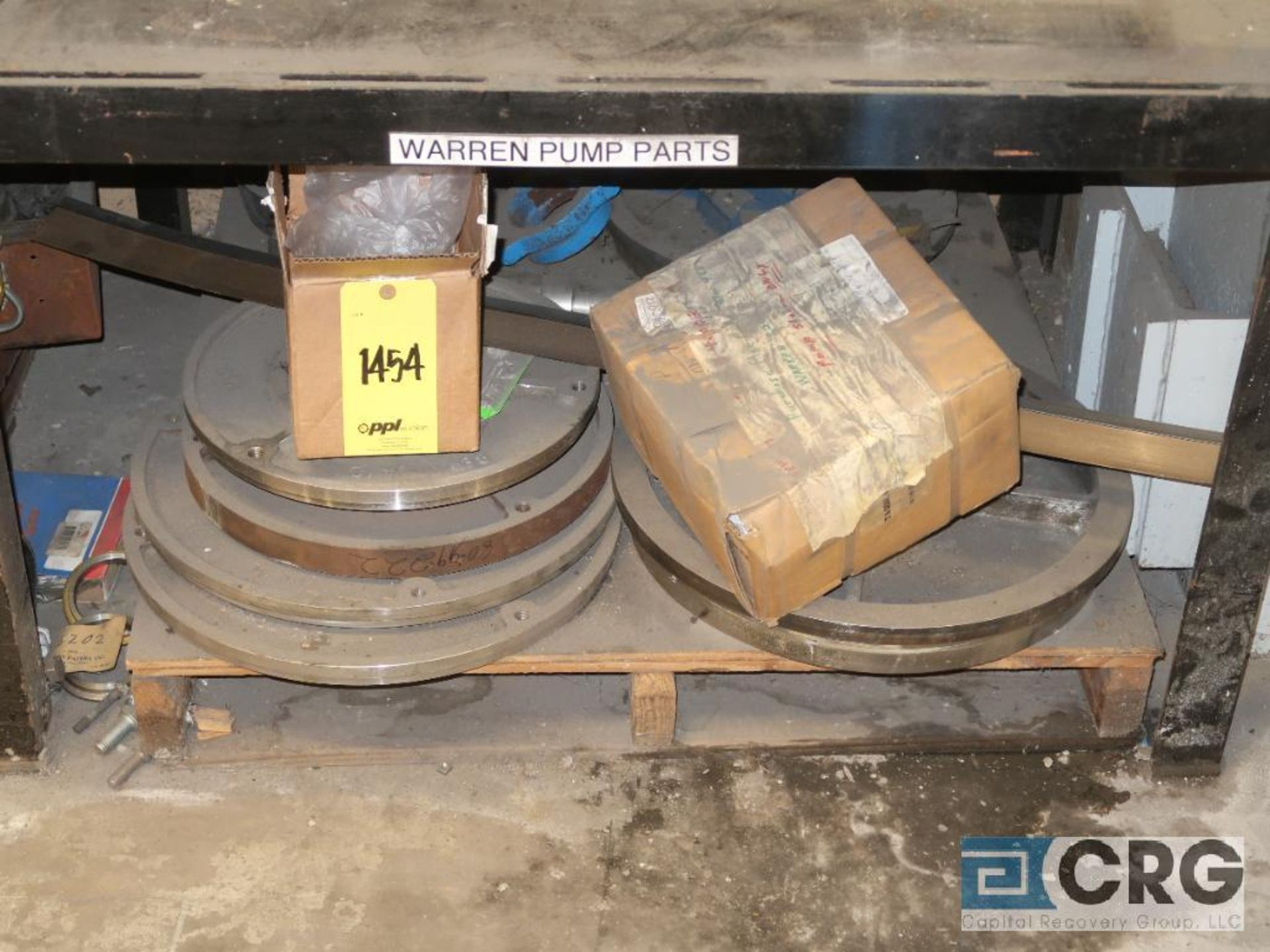Lot of (5) sections of assorted Warren parts including cassing, impeller, and face plate (Basement - Image 3 of 3