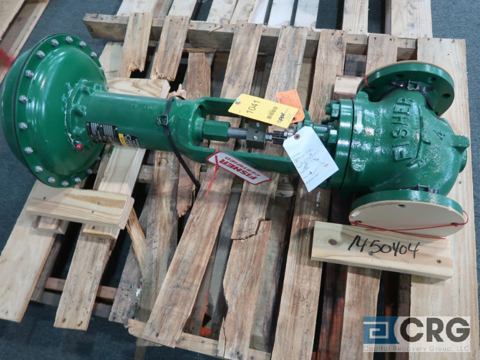Fisher 667 relief actuator valve, size 4 3/8, rating CL150 RF., s/n FA00050593(Finish Building)