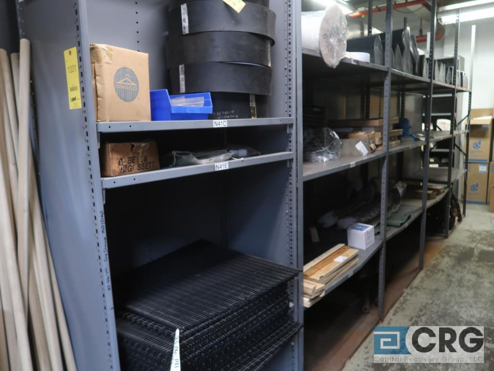 Lot of (35) sections with assorted parts including gaskets, fittings, shaft pins, gears, and - Image 2 of 17