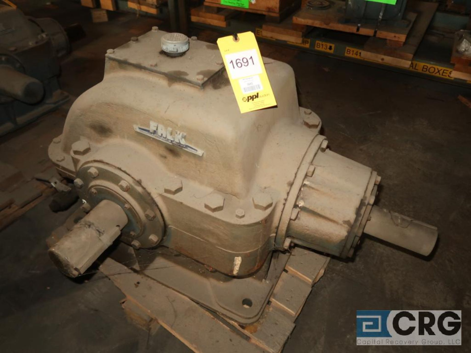 Falk 20906 GHB1 KD gear drive, ratio-1.481, input RPM 788.19, output RPM 532.2, service rate HP.