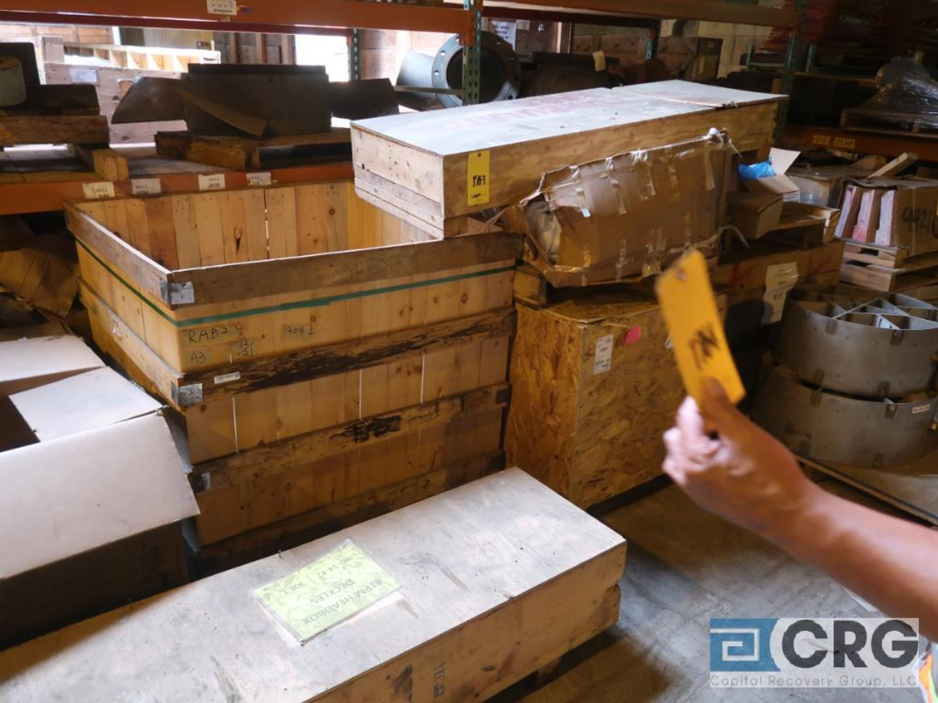 Lot of assorted parts including expansion joint, valves, fan blade, and rotors (Next Bay Cage Area) - Image 5 of 15