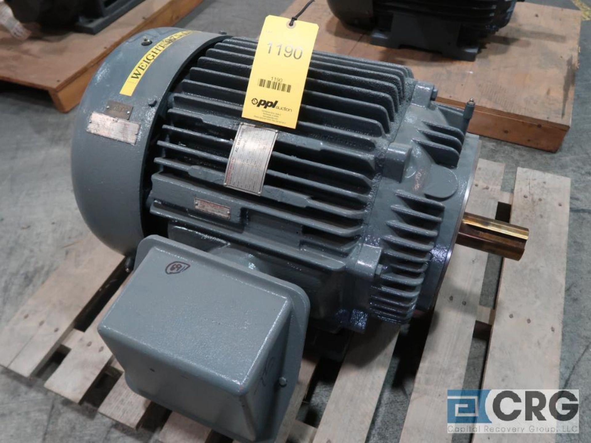 Marathon AC machine motor, 75 HP, 1,775 RPMs, 460 volt, 3 ph., 365TCZ frame (Finish Building)