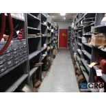 Lot of (18) sections with assorted parts including flanges and shock pads-CONTENTS ONLY (Store