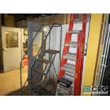 Lot of (4) ladders including (1) 8 ft., (1) 6 ft., (1) 3 ft., and (1) 5 step stock (496 Dock Area)