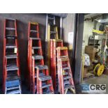 Lot of (12) ladders including (1) aluminum 10 step, (2) 7 step, (4) 5 step, (2) 3 step, (2) 2