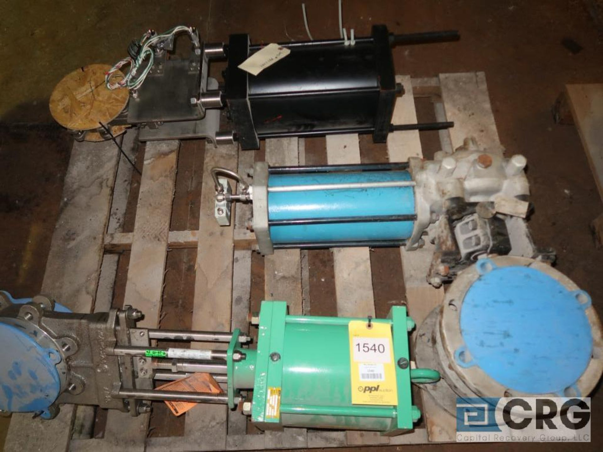 Lot of (3) assorted valves with air actuators (496 Dock Area)
