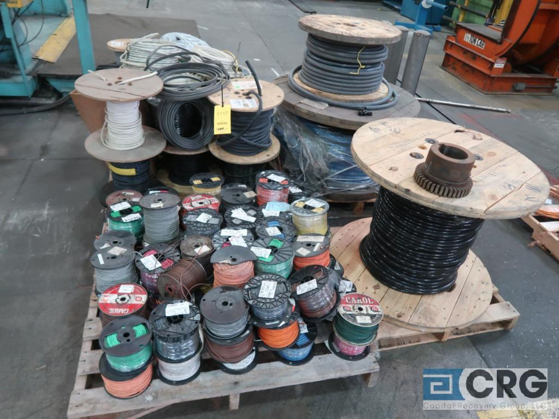 Lot of (4) pallets of gauge and cable wire (Finish Building)