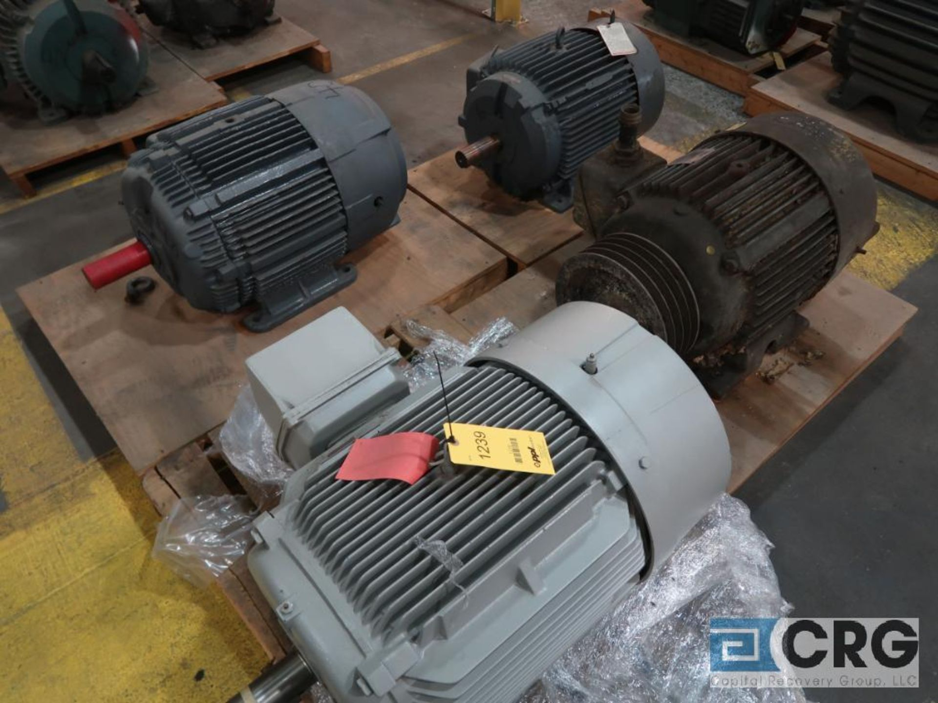 Lot of (4) assorted 40 HP electric motors including (1) Louis-Allis, (1) Reliance, (1) Westinghouse,