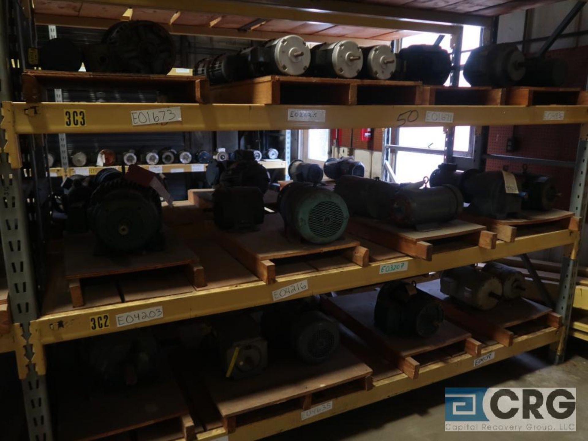 Lot of (63) assorted 5 HP and smaller motors on (8) shelves (Motor Building) - Image 3 of 3