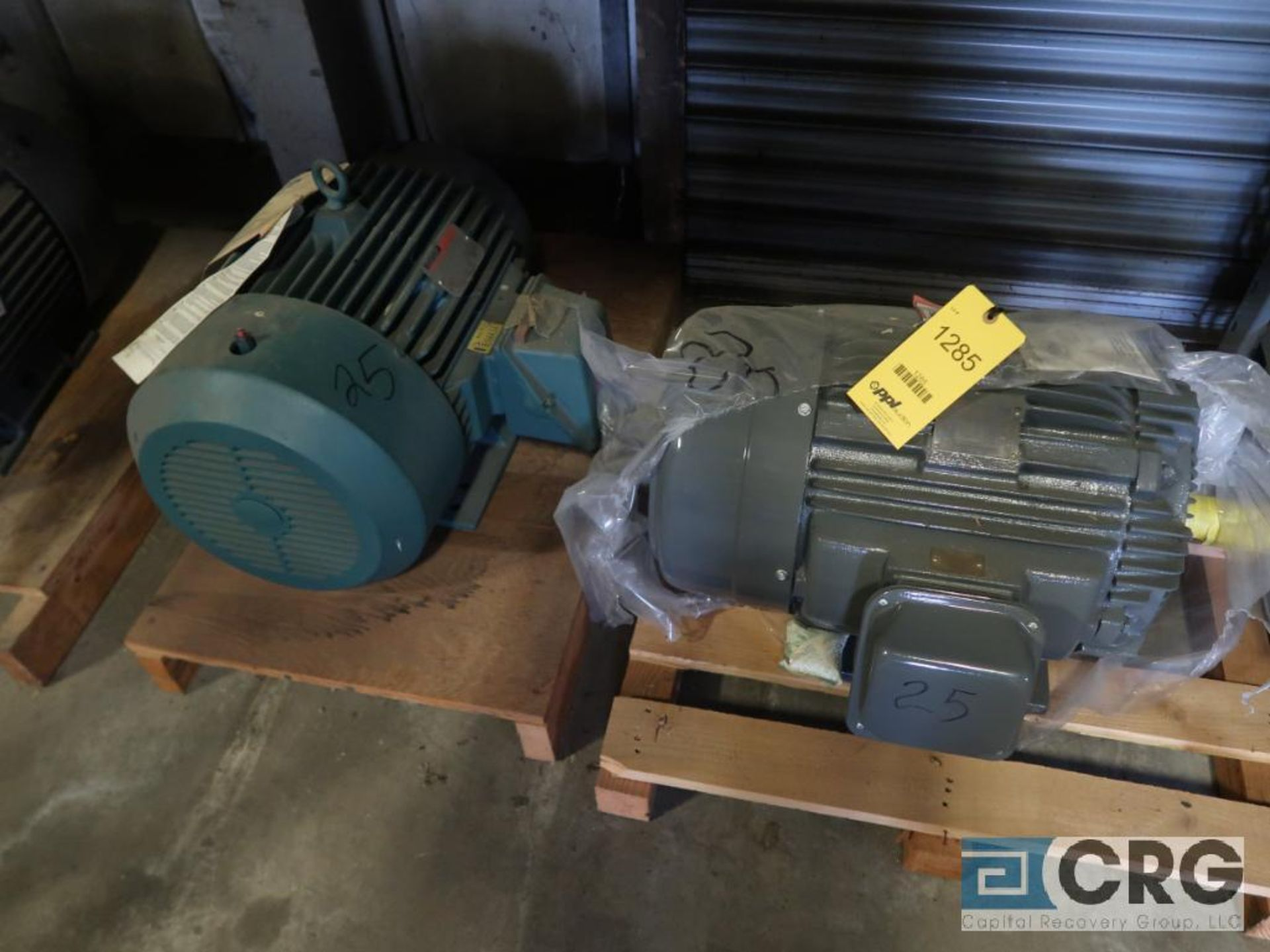 Lot of (4) assorted 25 HP motors (Motor Building)