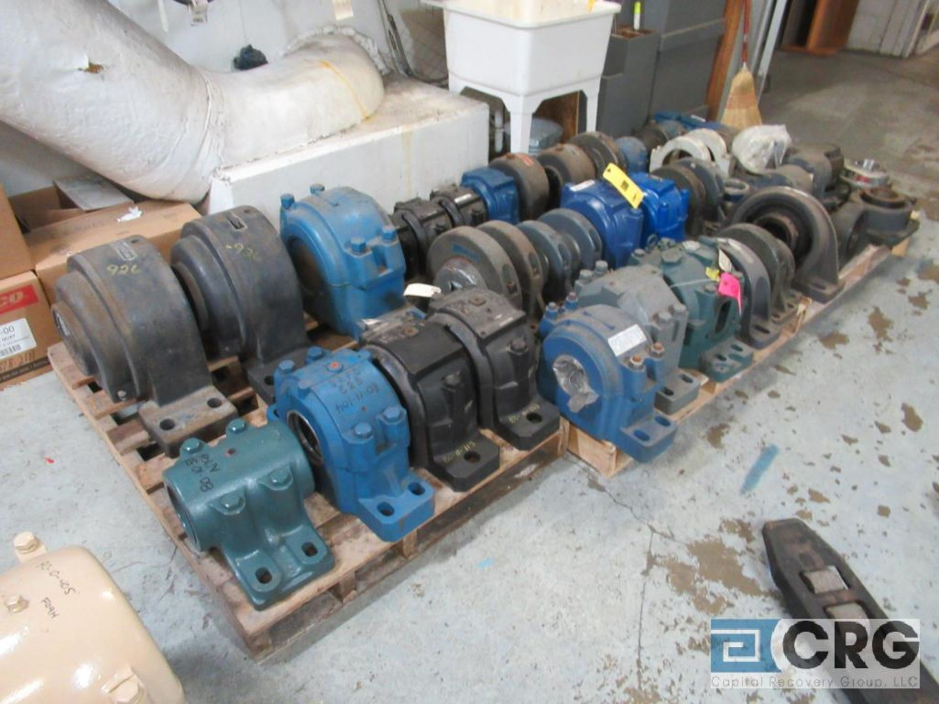 Lot of assorted large bearings and pillow blocks on (6) pallets (Basement Store) - Image 2 of 8