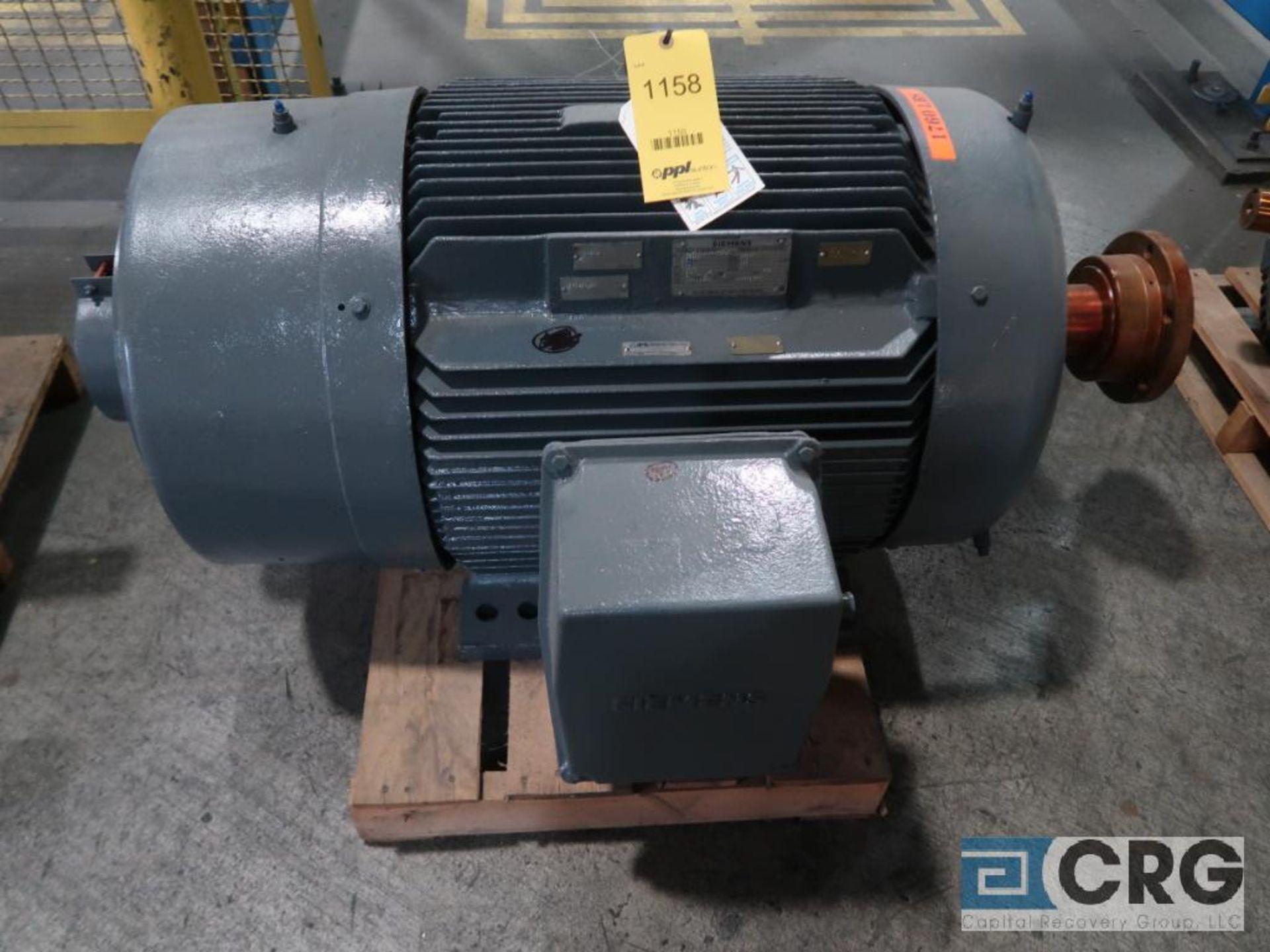 Siemens Energy Express motor, 125 HP, 1,785 RPMs, 460 volt, 3 ph., 445TZ frame (Finish Building)