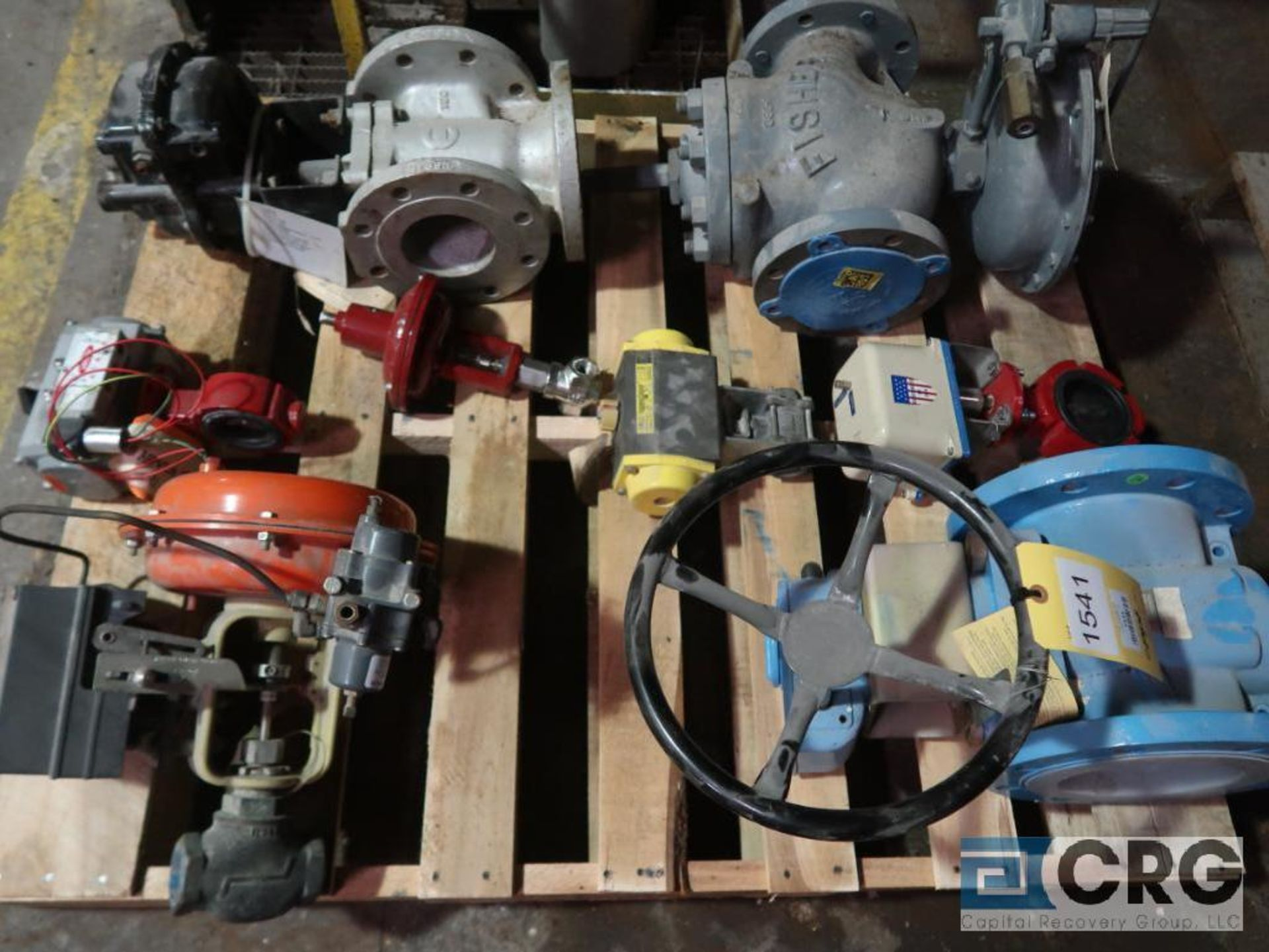 Lot of (11) assorted valves on (2) pallets-shelving not included (496 Dock Area) - Image 2 of 3