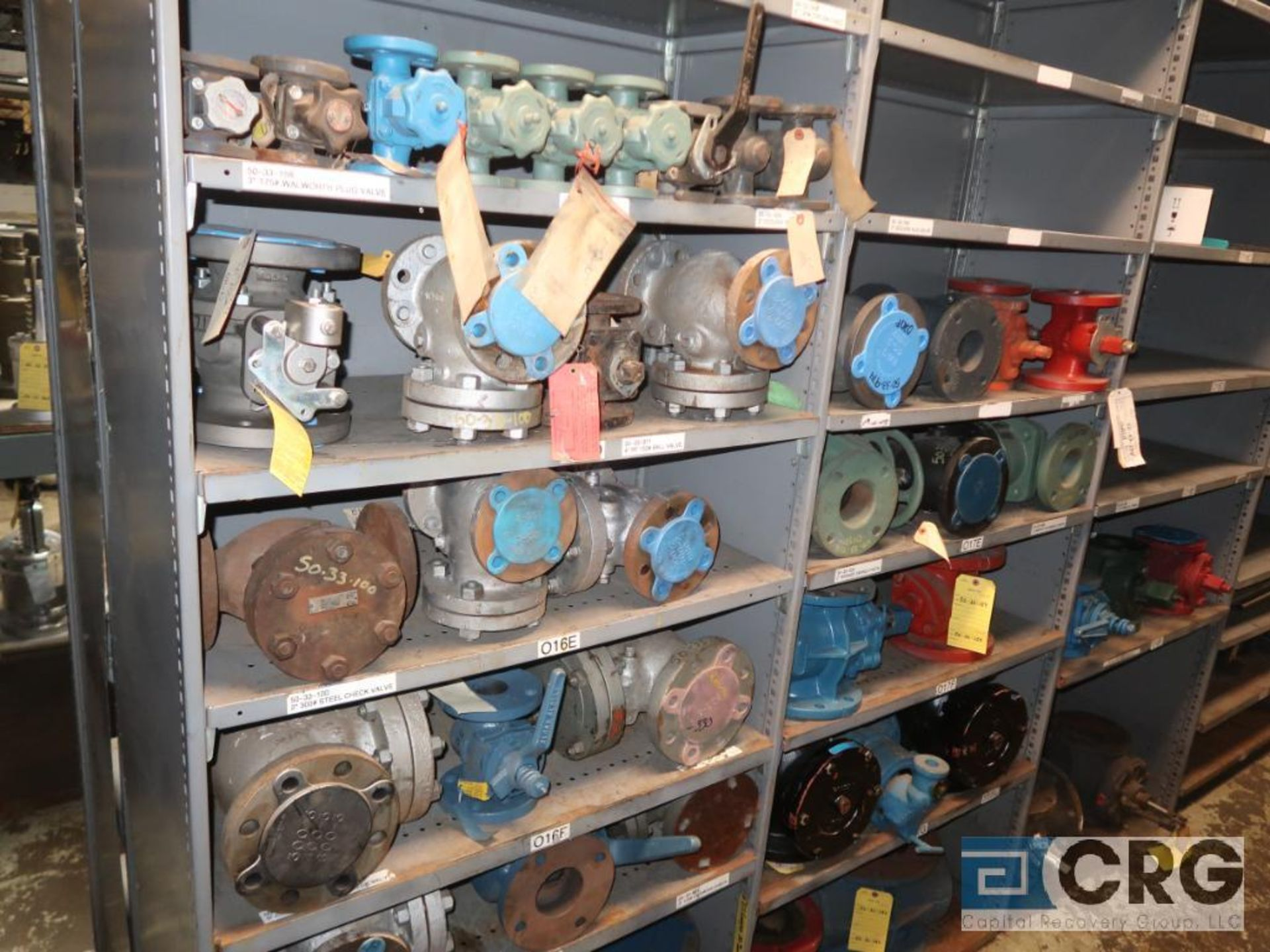 Lot of (30) sections with assorted parts including gears, chain, walves, packing, gaskets, and - Image 7 of 9