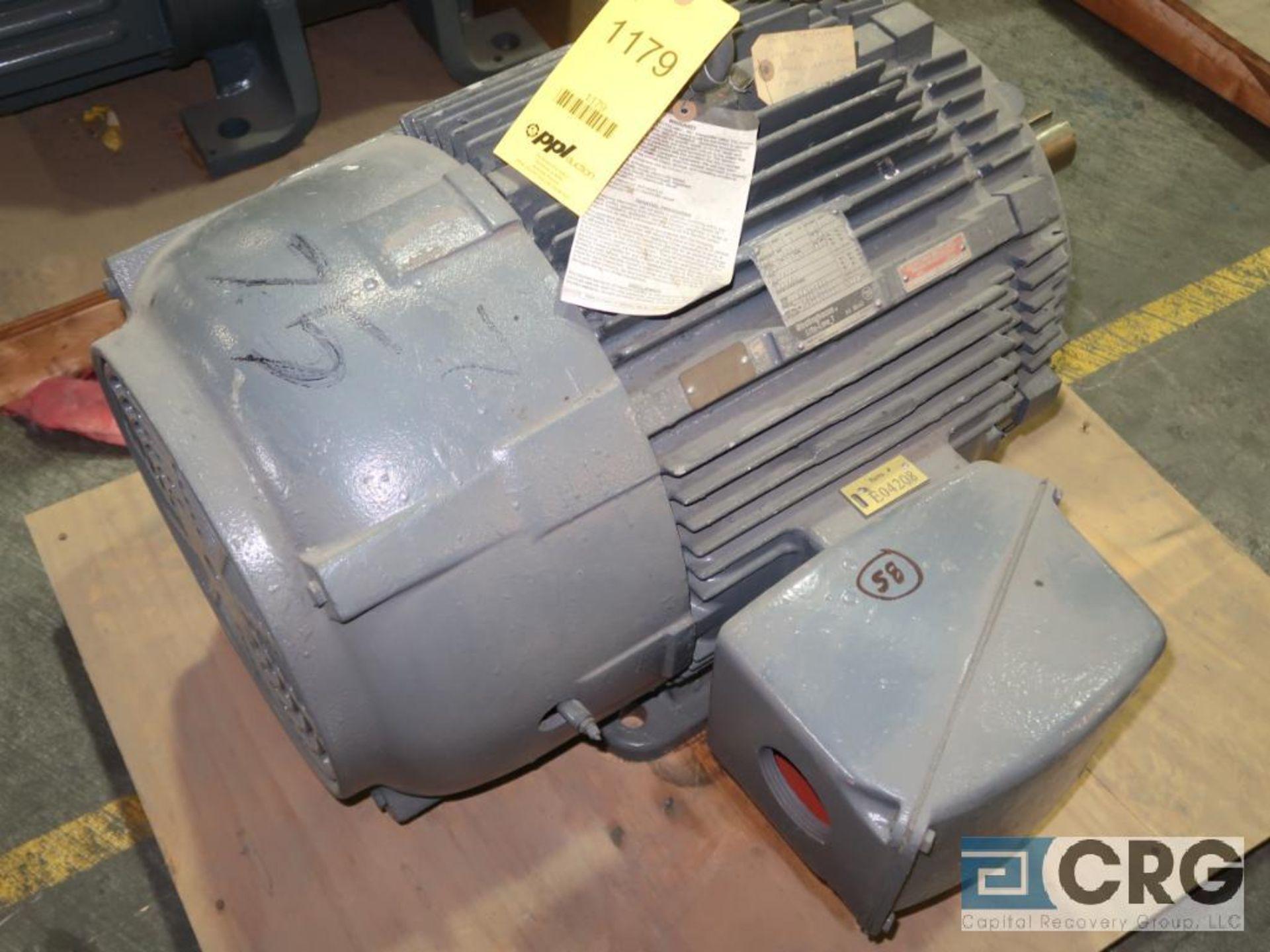 Westinghouse Life-Line T AC motor, 75 HP, 3,560 RPMs, 230/460 volt, 3 ph., 365T frame (Finish