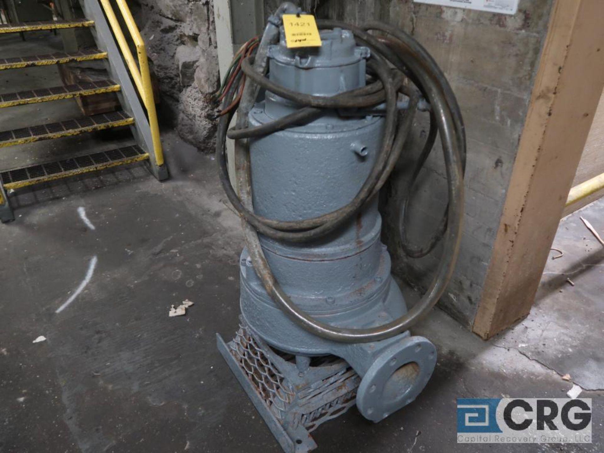 Flygt 6 in. sump pump, 460 volt, s/n 7912 (Basement Stores)