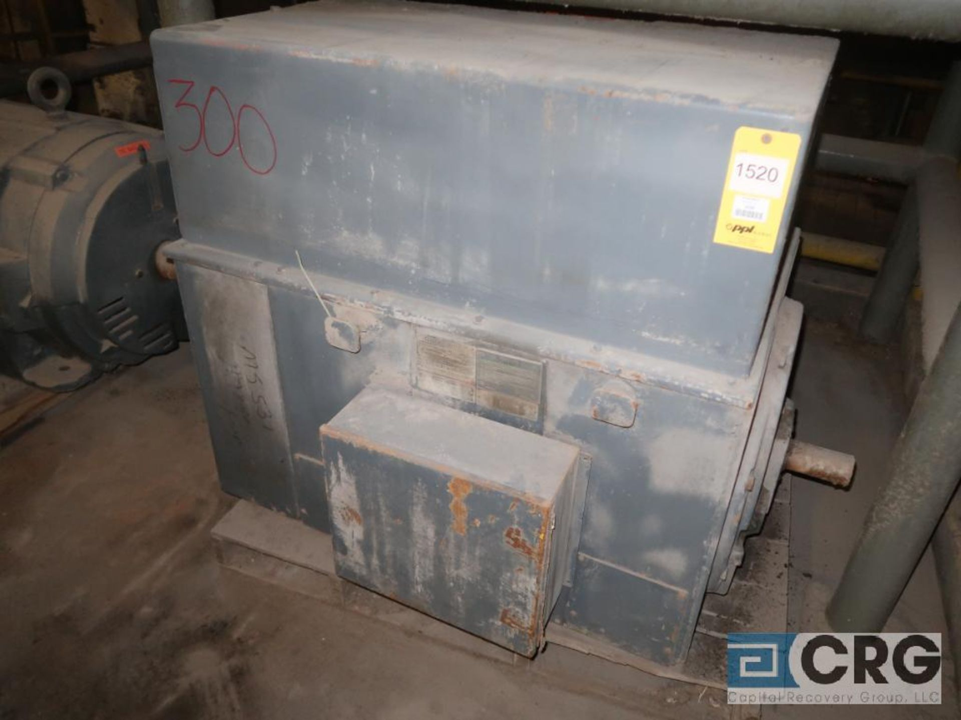 GE motor, 300 HP, 3,570 RPM, 2,300 volts, 8188S frame, equipment #MS531 (496 Dock Area) - Image 2 of 3