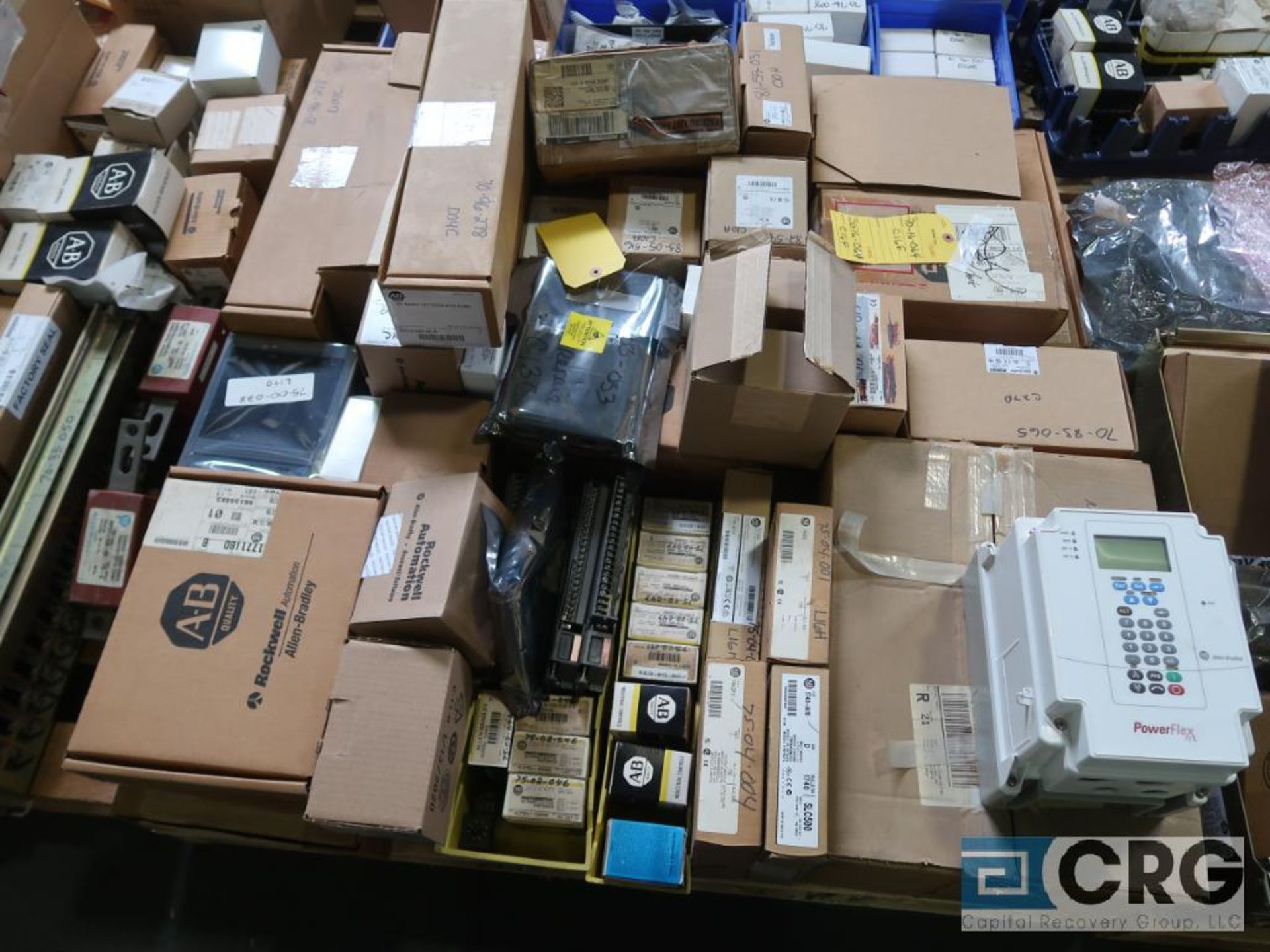 Lot of assorted Allen Bradley electrical automation on (13) pallets including sensors, relays, SLC - Image 6 of 12