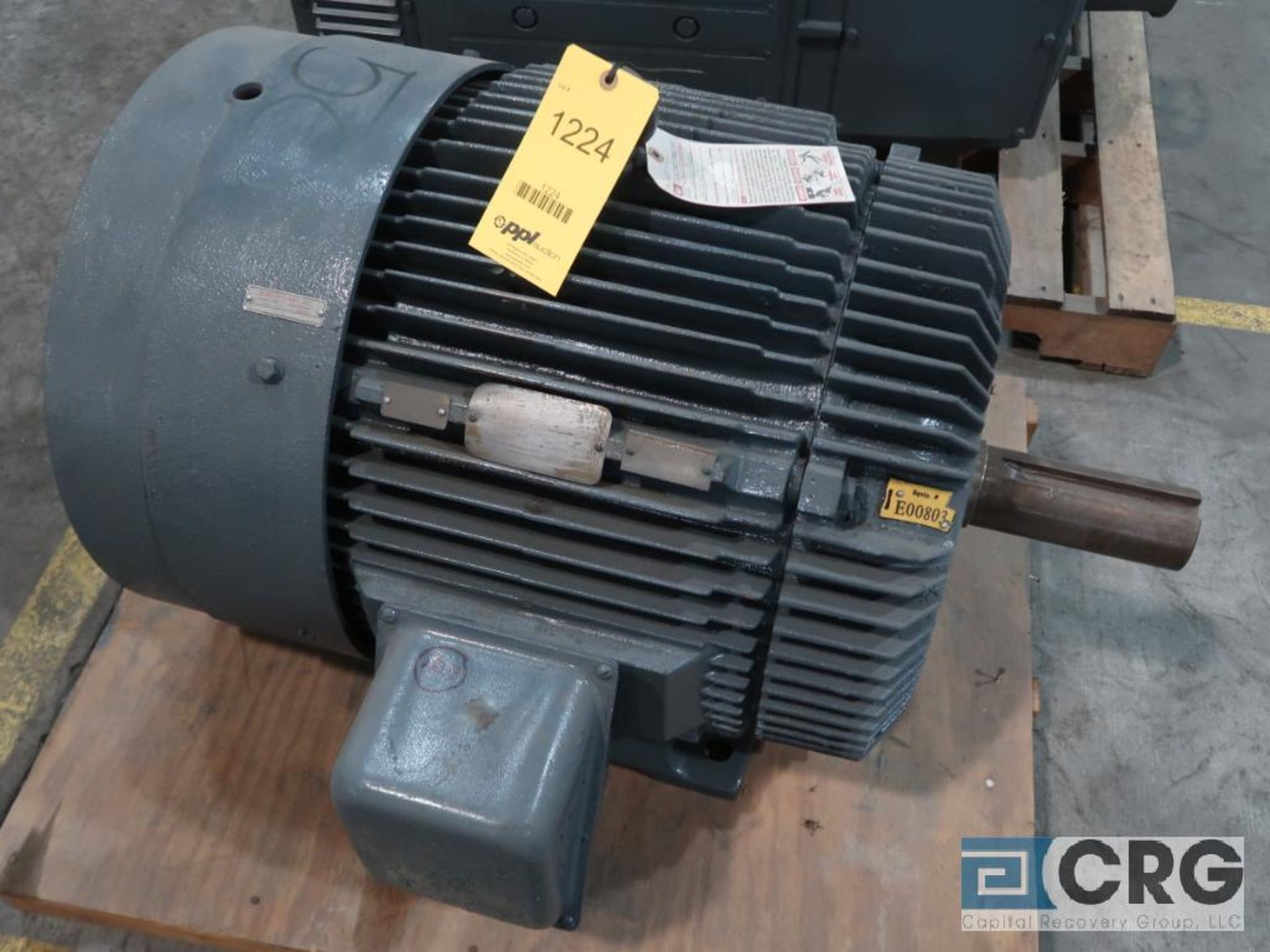 Reliance Duty Master A-C motor, 50 HP, 875 RPMs, 460 volt, 3 ph., 404T frame (Finish Building)