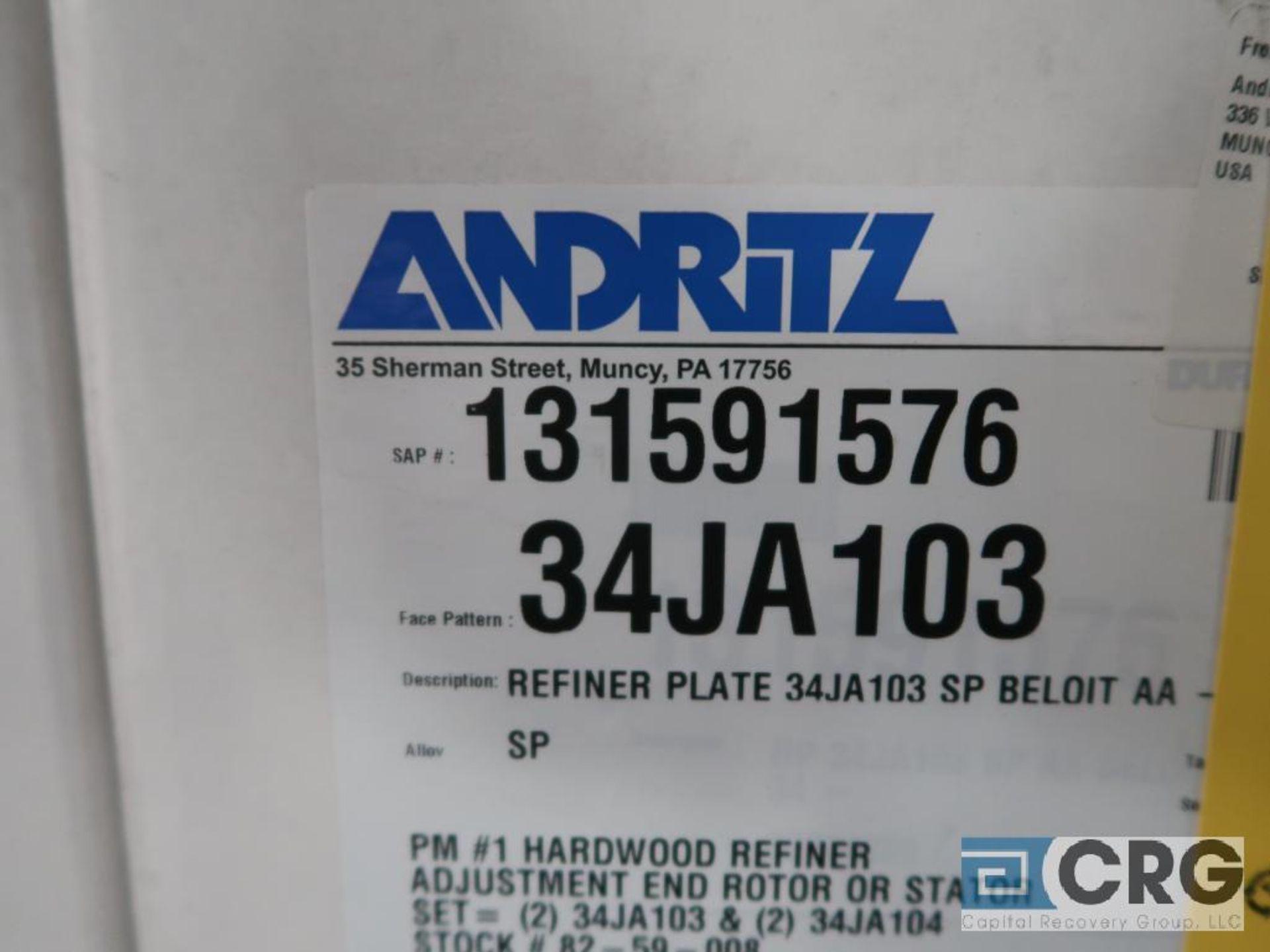 Lot of (4) Andritz 34JA103 refiner plates (Finish Building) - Image 2 of 2