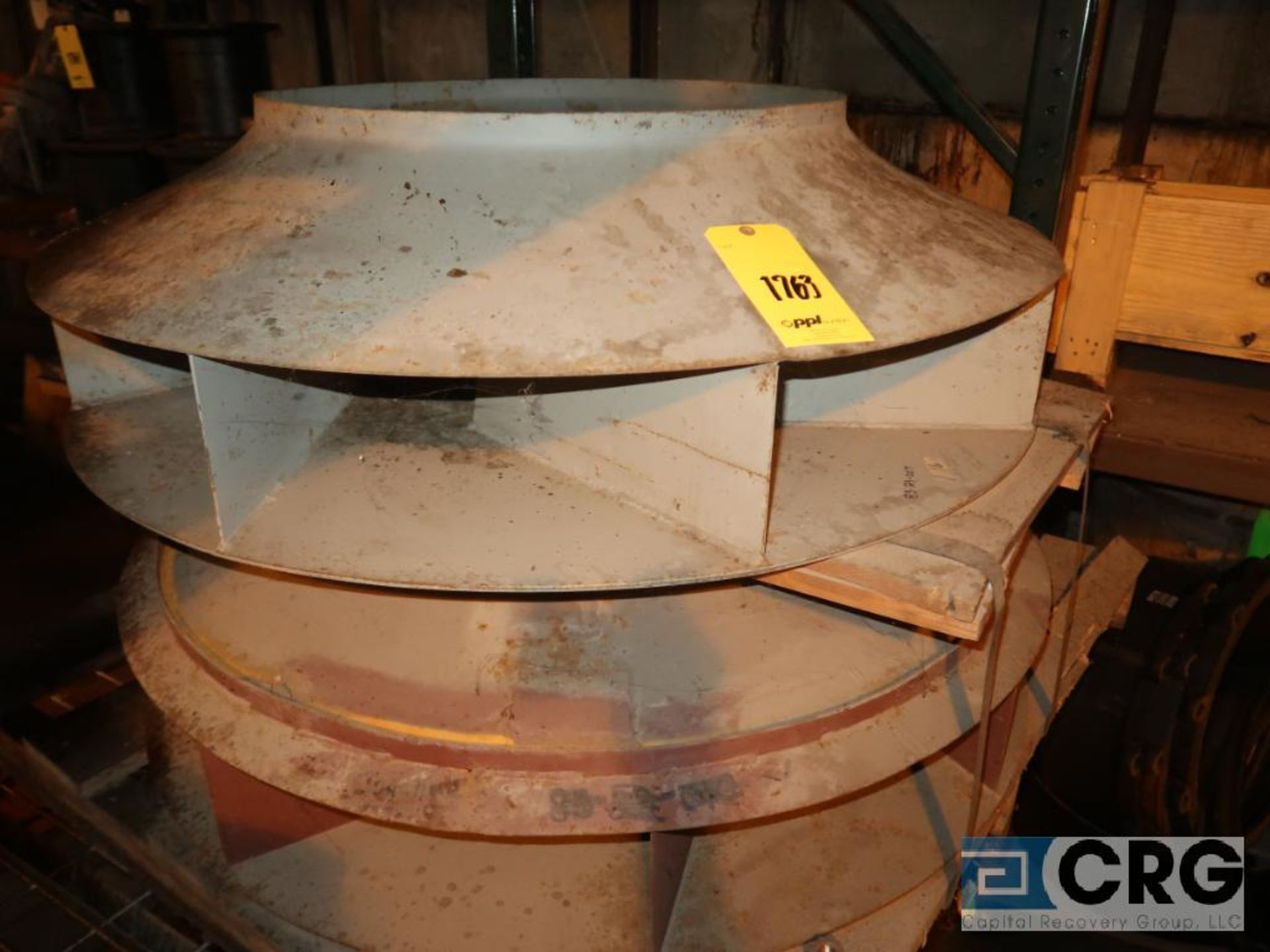 Lot of assorted parts including expansion joint, valves, fan blade, and rotors (Next Bay Cage Area) - Image 12 of 15