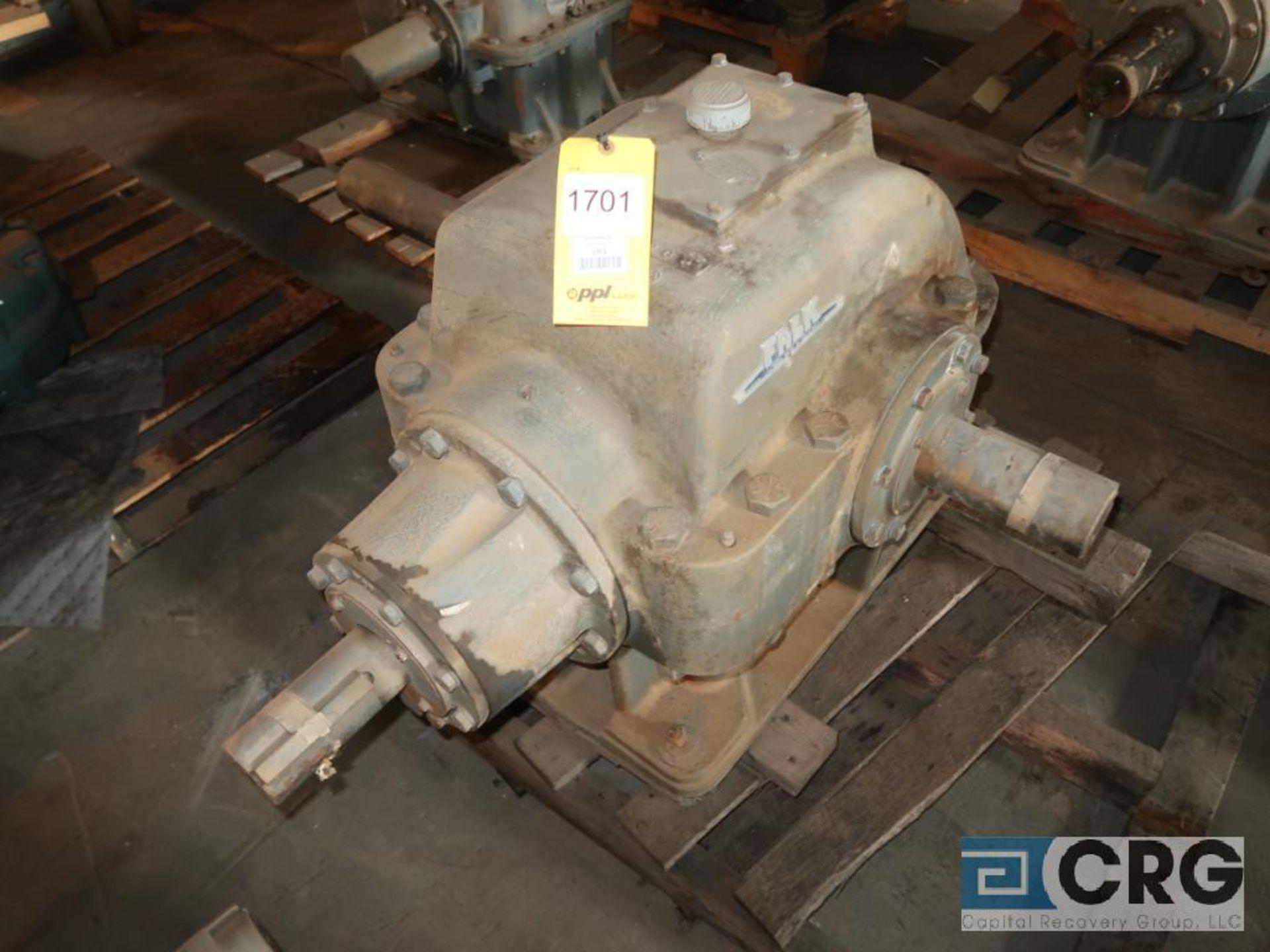 Falk 2090 GHB1KS gear drive, ratio-1.864, input RPM 683.5, output RPM366.7, service rate HP. 50, s/n