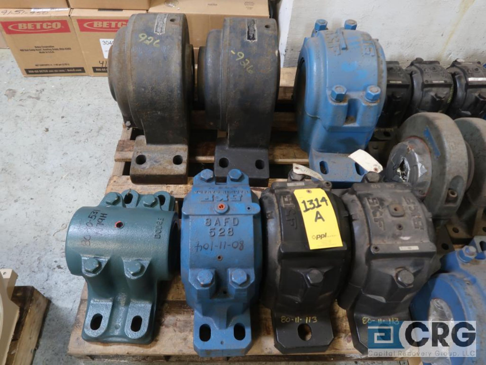 Lot of assorted large bearings and pillow blocks on (6) pallets (Basement Store) - Image 6 of 8