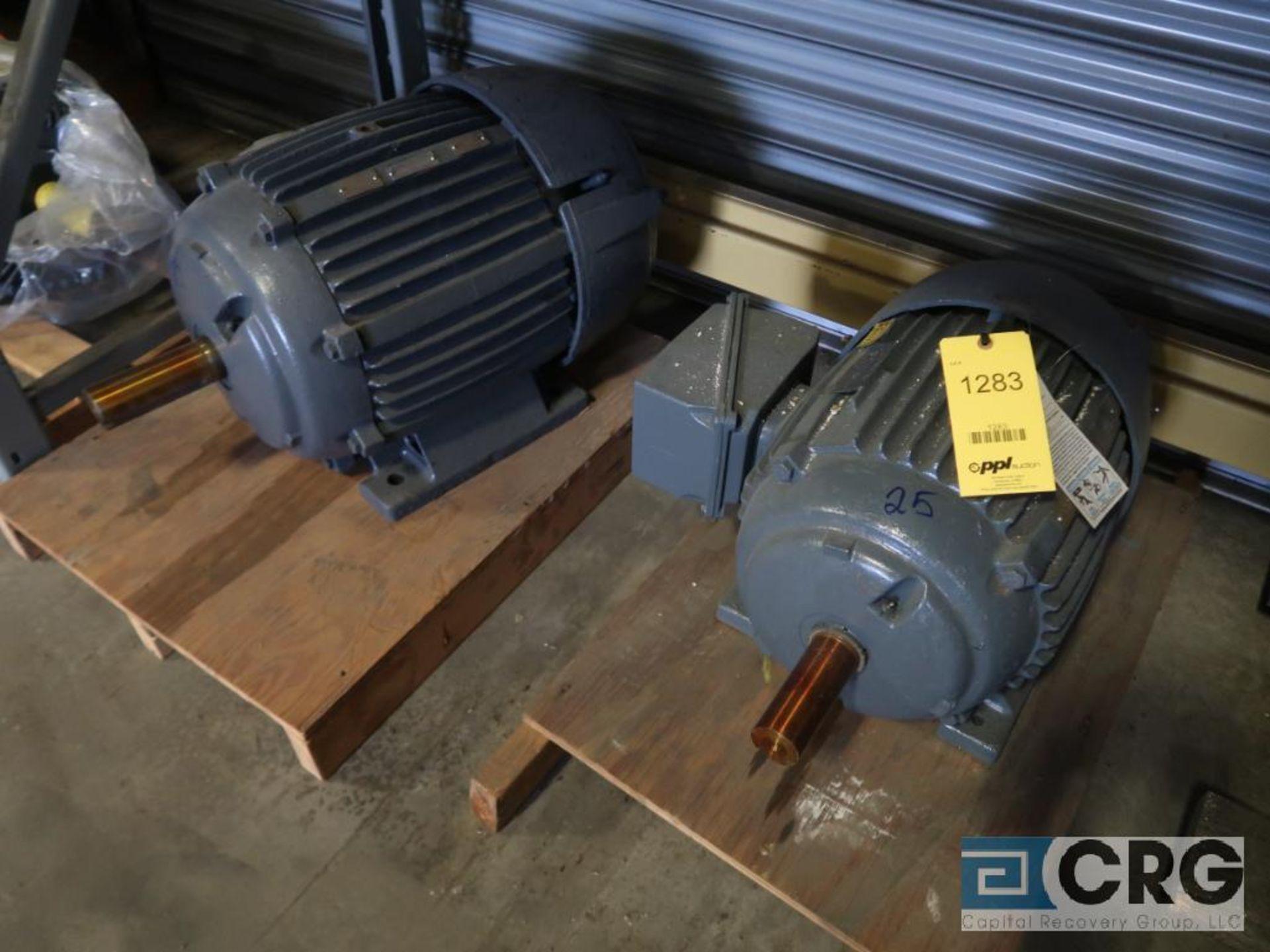Lot of (3) assorted 25 HP motors (Motor Building) - Image 2 of 2