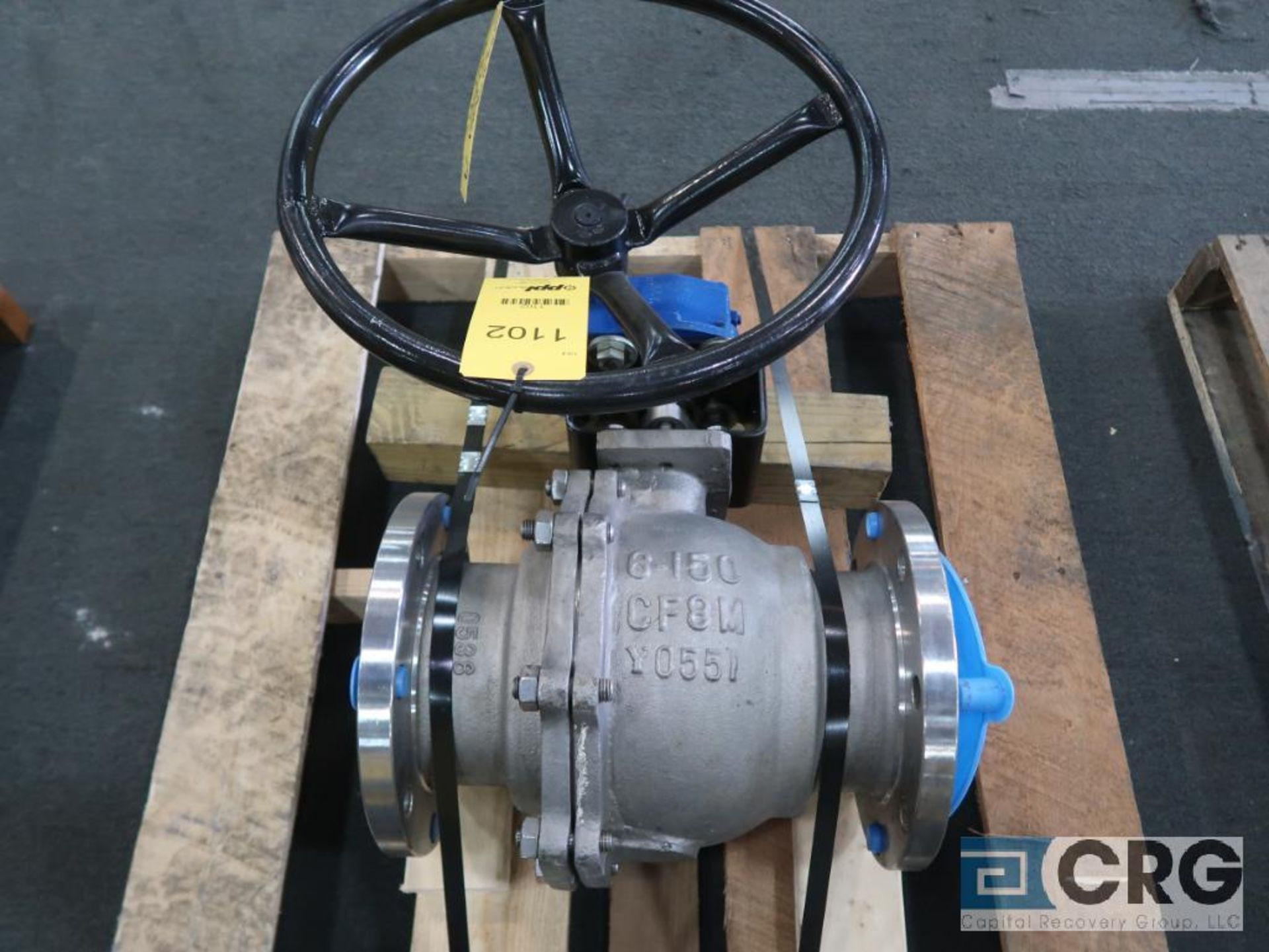 Chalmers stainless 6 in. ball valve (Finish Building)