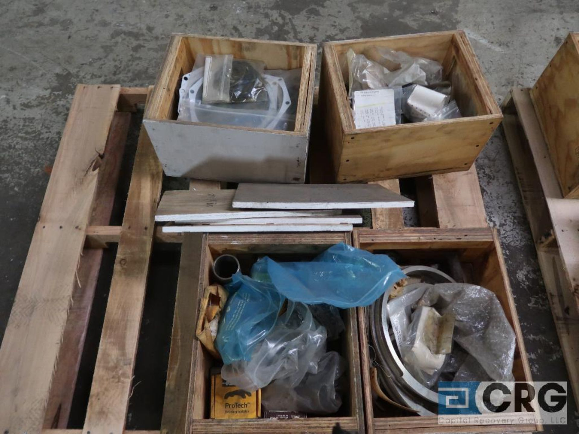 Lot of assorted Goulds 3410 pump parts including sleeves, bearings, and housings (Basement Stores)