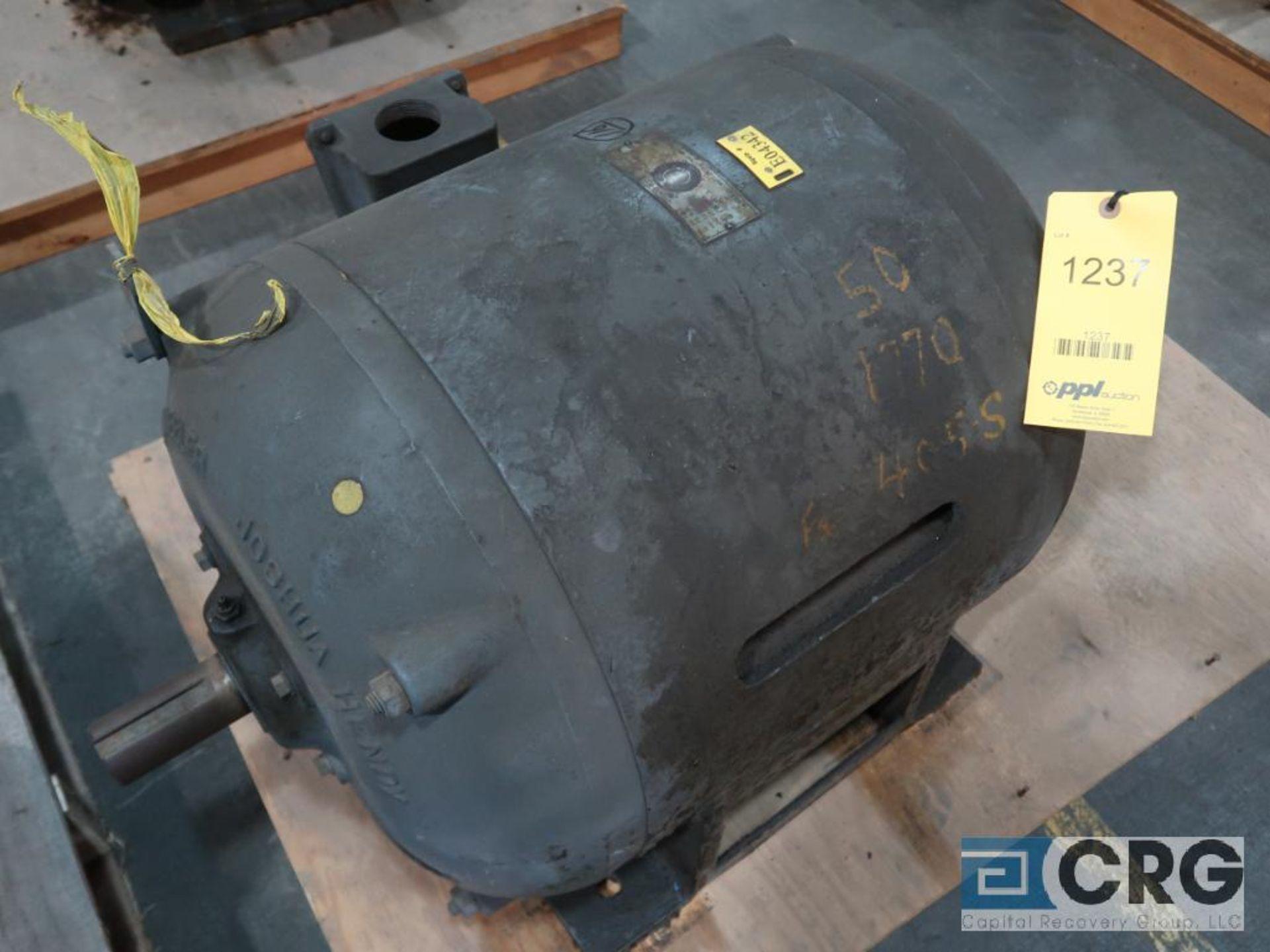 Crocker-Wheeler electric motor, 50 HP, 1,770 RPMs, 220/440 volt, 3 ph., BA405S frame (Finish