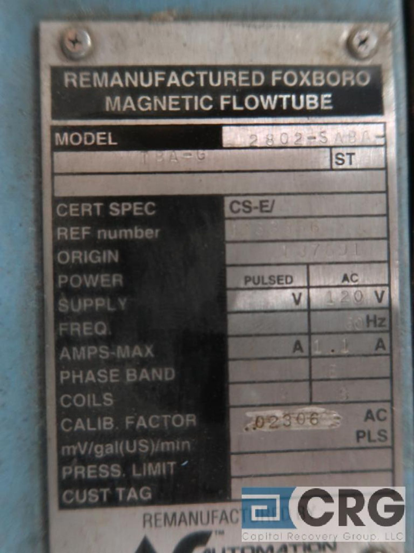 Lot of (5) Foxboro magnetic flow tubes, (2) 1/2 in., (2) 1 in., and (1) 2 in. (Finish Building) - Image 2 of 2