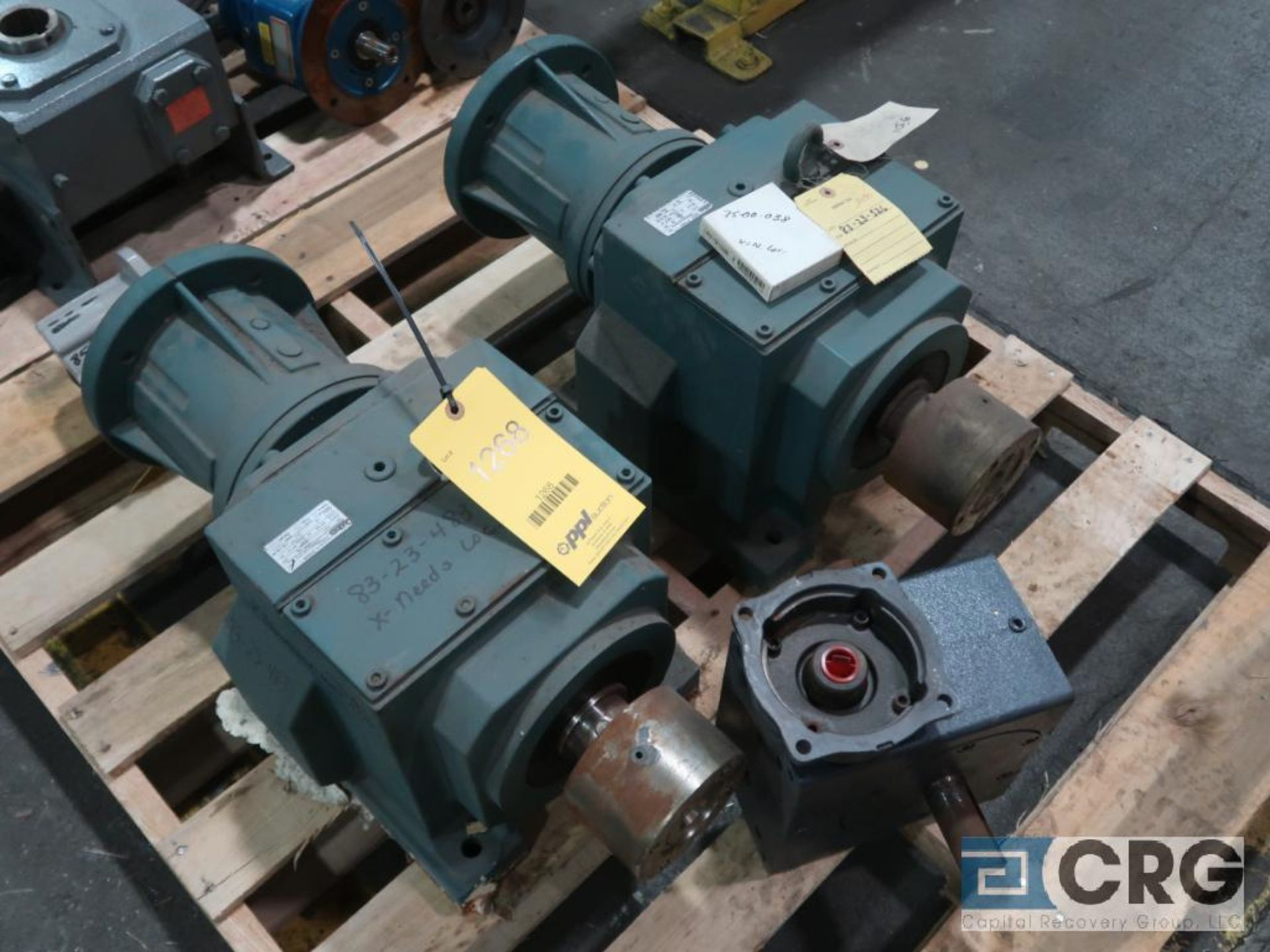 Lot of (20) gear drives with motors, various HPs (Finish Building)