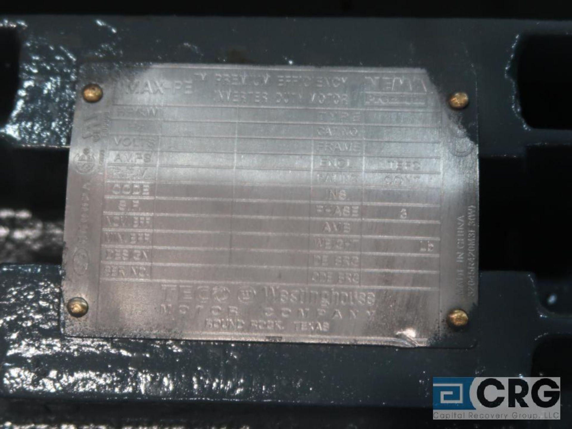 Teco Westinghouse MAX-PE Inverter Duty motor, 50 HP, 460 volt, 3 ph. (Finish Building) - Image 2 of 2