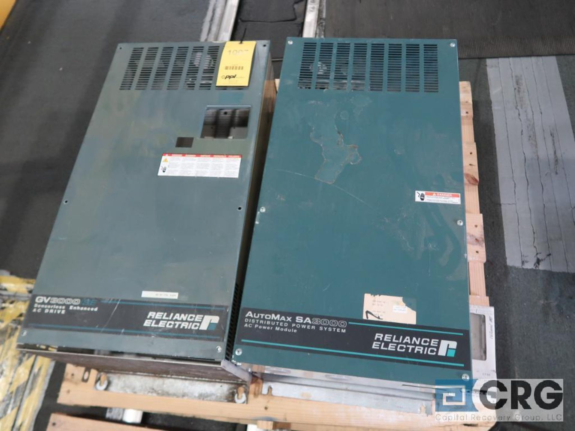 Lot of (3) Reliance AutoMarsa 3000 AC power module, IO chassis (Finish Building)