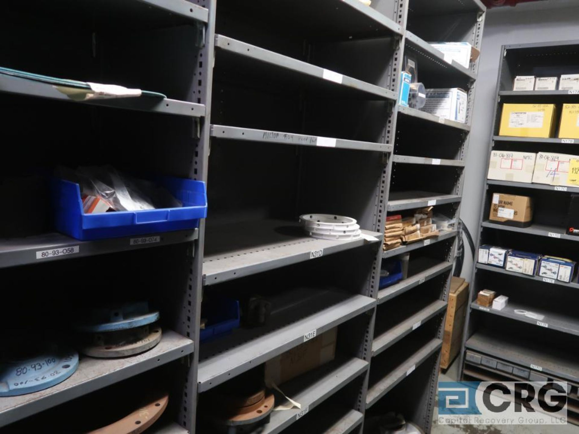 Lot of (16) sections with assorted pumpparts including gaskets, rupture discs, valves, and drives- - Image 4 of 8