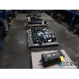Lot of (8) pallets and (3) sections with assorted pneumatic and hydraulic cylinders (Store