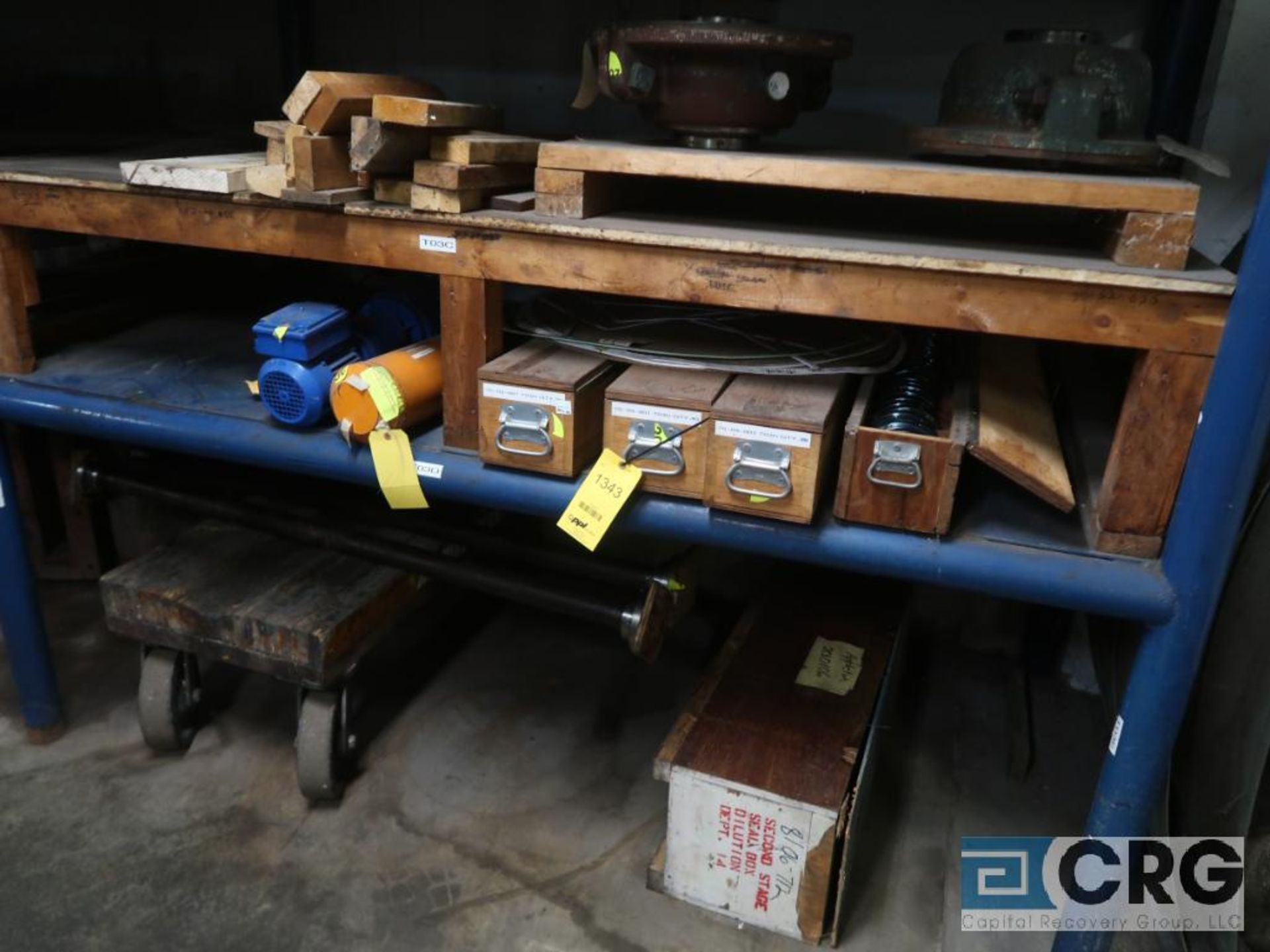 Lot of (4) sections assorted shafts, motor rotors, and ringe gauges (Store Basement)